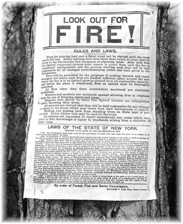1908 fire prevention posters.