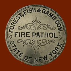 A 1909 Fire Patrol Badge from the Chet Smith Collection