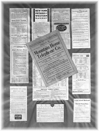 1910 fire prevention circulars & handbills.