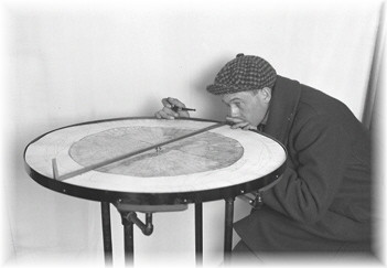 1919-Map Table being demonstrated by Forester Kinne F. Williams- - A NYS Archives Photo