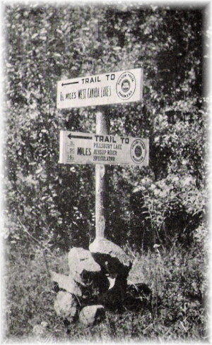 1920 Trail Signs  - A NYS Archives Photo