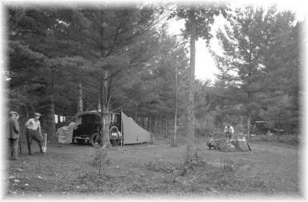 Roadside camping in the Adirondacks - c.1920 - A NY State Archives Photo