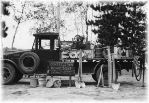 The Saranac District 1929 Larrabee truck designed specifically for fighting forest fires