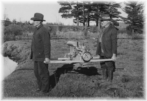 A 1921 Evinrude Portable Pump - An NYS Archives Photo