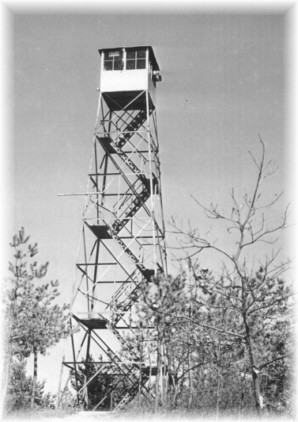 Flanders Hill Fire Tower courtesy of the Walt Tuber Collection